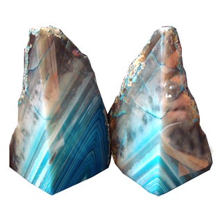 Striped Agate Bookends