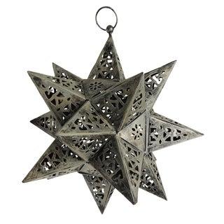 Vintage Metal Moravian Candelabra Star