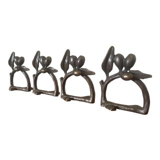 Cast Iron Olive Branch Napkin Rings - Set of 4