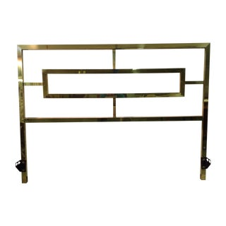Hollywood Regency Brass Headboard by Mastercraft