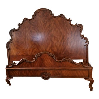 Drexel Heritage Belle Maison Carved Bed of Ribbon King