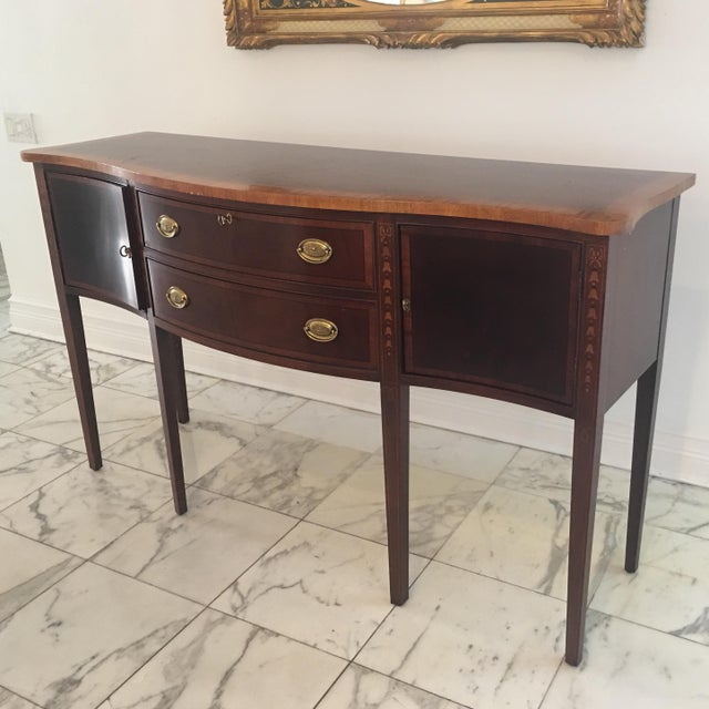 Image of Antique Federal Style Inlaid Sideboard