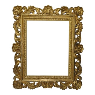 Monumental Hand Carved Gilded Frame 19th Century