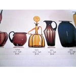 Image of Joel Myers Blenko Green Figurine Decanter