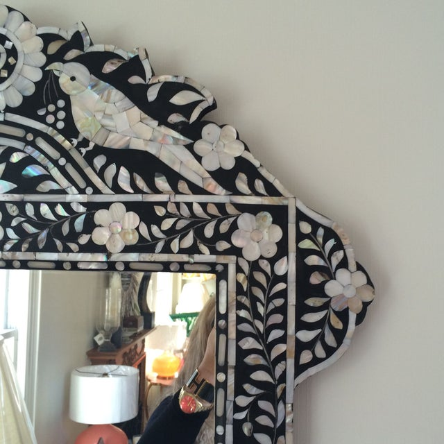 Mother of Pearl Inlay Mirror - Image 3 of 5