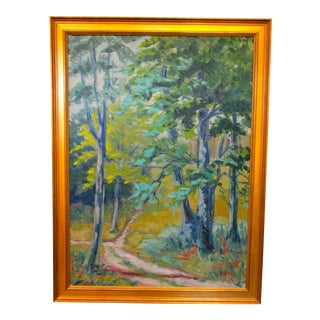 Danish Woods Painting by F. Aster