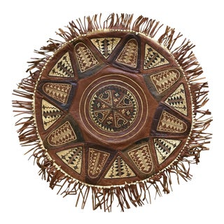 Vintage Tribal Leather Pillow
