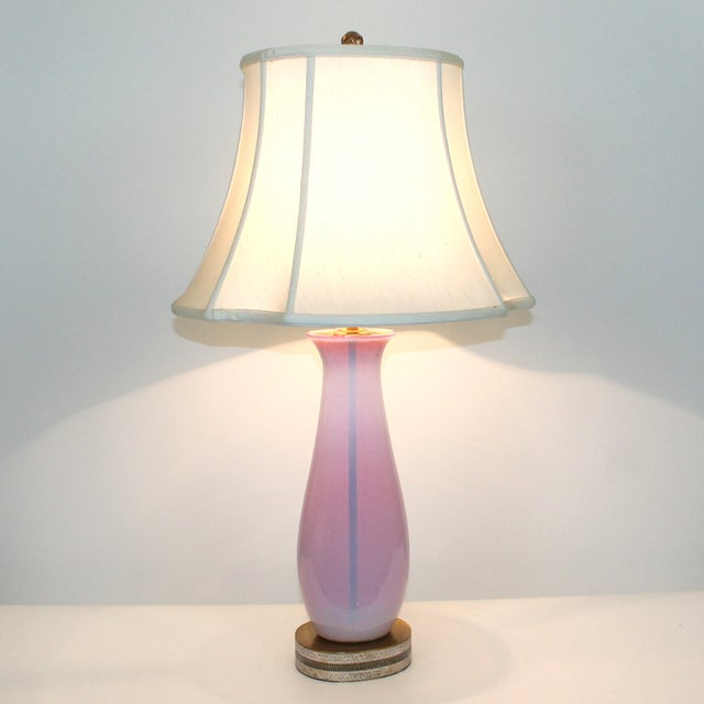 Opalescent Pink Murano Glass Lamp - Image 10 of 10