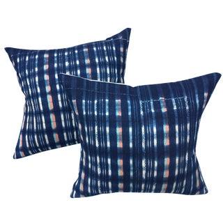 African Indigo Pillows - A Pair