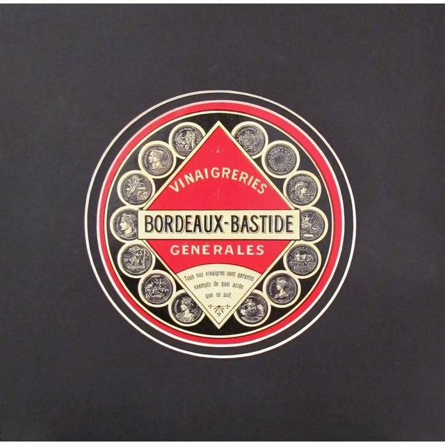 1930s French Art Deco Food Label, Vinegar - Image 2 of 4