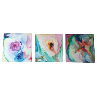 Original Acrylic Abstract Paintings - Set of 3