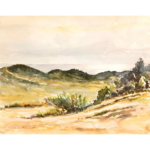 Vintage Chaparral Landscape Watercolor Painting - Image 1 of 3