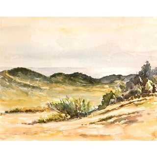 Vintage Chaparral Landscape Watercolor Painting