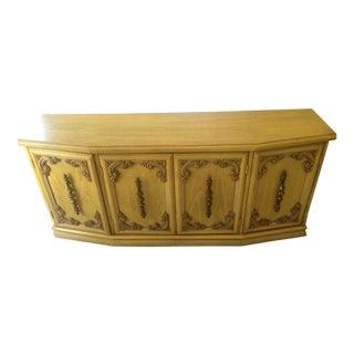 Vintage Golden Yellow Credenza