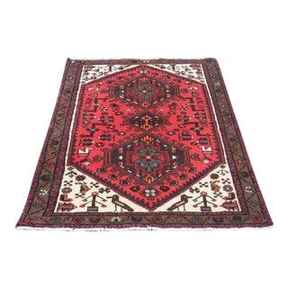 Fine Persian Hamadan Rug - 3″ × 5″