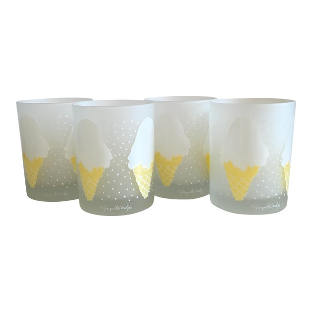 Image of Georges Briard Ice Cream Old Fashion Glasses - S/4