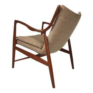 Finn Juhl Sculptural Teak Danish Modern NV45 Chair for Neils Vodder