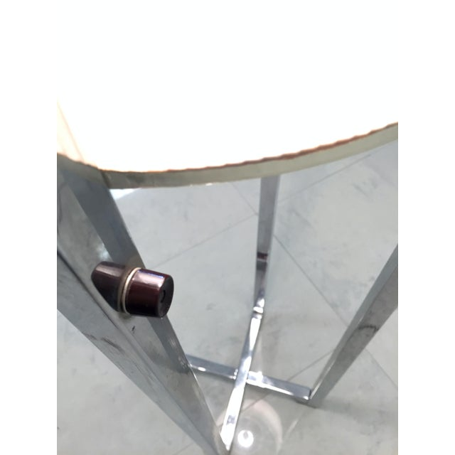 Vintage Chrome Drum Shade Floor Lamp - Image 4 of 7