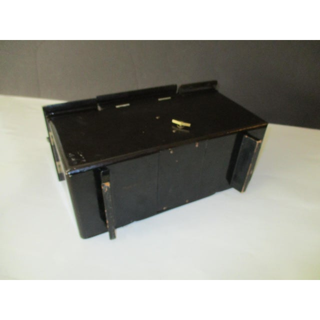 Asian Black Lacquer Jewelry Music Box - Image 4 of 11