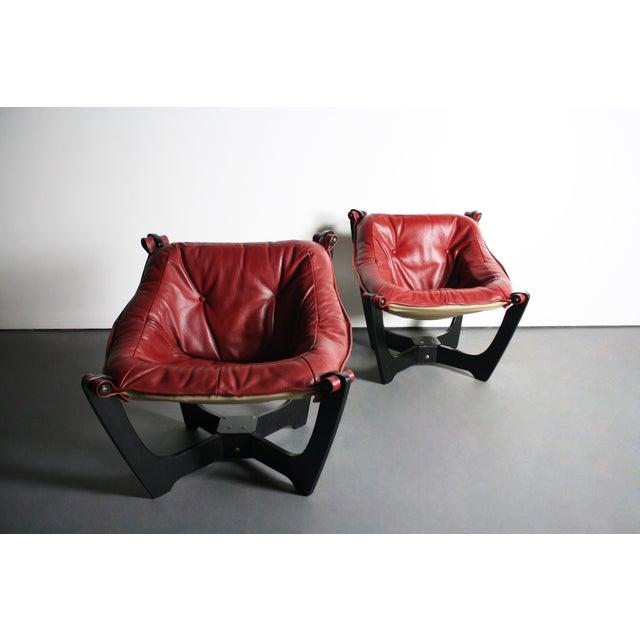 Image of Img Norway Odd Knutsen Luna Chairs - Pair