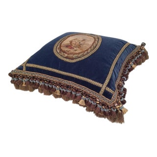 French 18th Century Aubusson Tapestry Pillow