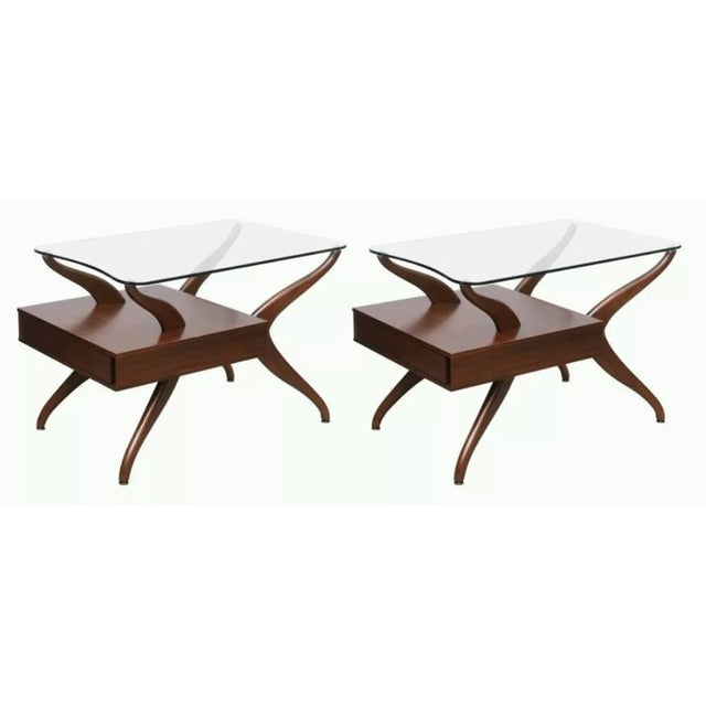 Kagan-Style Biomorphic Side Tables - A Pair - Image 2 of 6