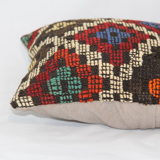 Turkish Handmade Kilim Pillow Cover - Image 5 of 6