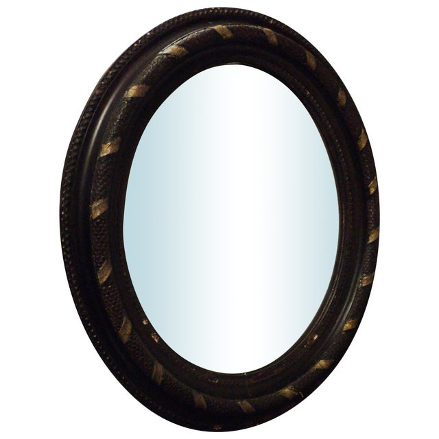 Antique Oval Hanging Mirror - Image 1 of 11
