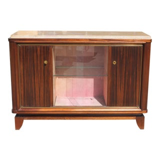 Maurice Rinck French Art Deco Macassar Ebony Sideboard