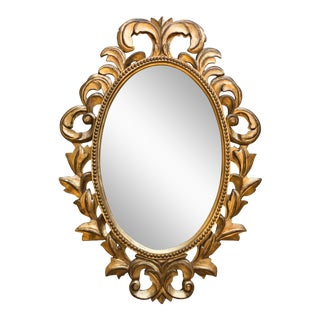 Gold Wood Italian Carved Mirror