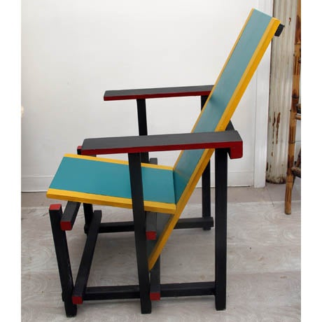 Mid century reproduction reitveld chair chairish for Mid century reproduction