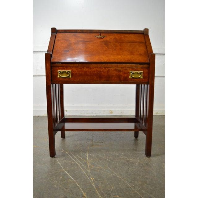 Danner Antique Mission Style Mahogany Slant Lid Writing Desk - Image 2 of 10