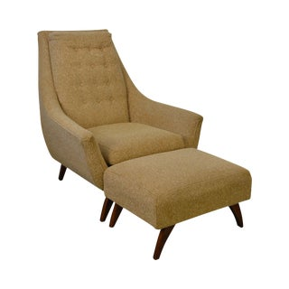 Adrian Pearsall Mid Century Modern Lounge Chair w/ Ottoman