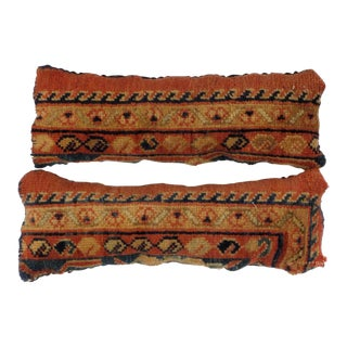 Leon Banilivi Antique Persian Rug Fragment Pillows - a Pair