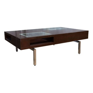 Modern Wood & Glass Coffee Table