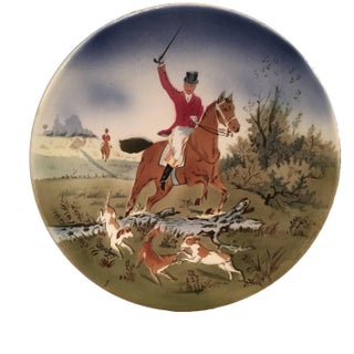 Painted Hunt Scene Decorative Plate
