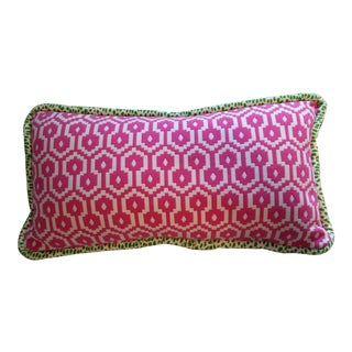 Contemporary Hot Pink Pillow