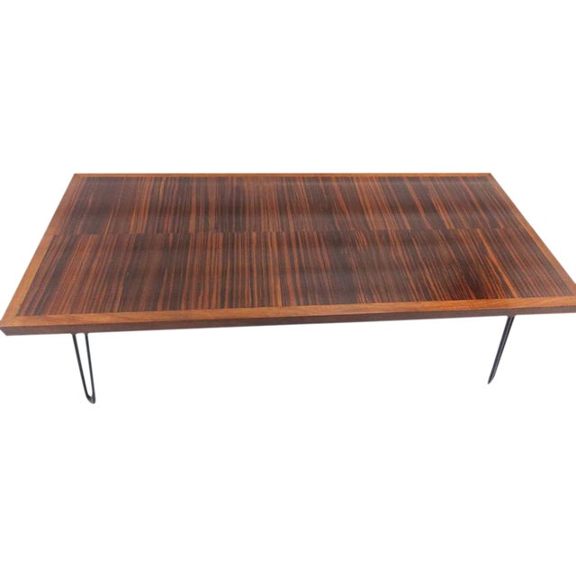 Wooden Coffee Table With Hairpin Legs Chairish