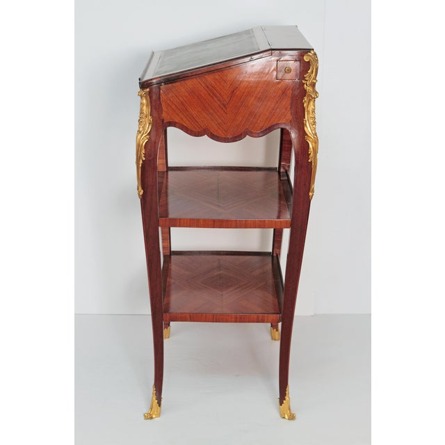Louis XV Style Small Writing Desk / Table by Alfred Emmanuel Louis Beurdley - Image 4 of 11