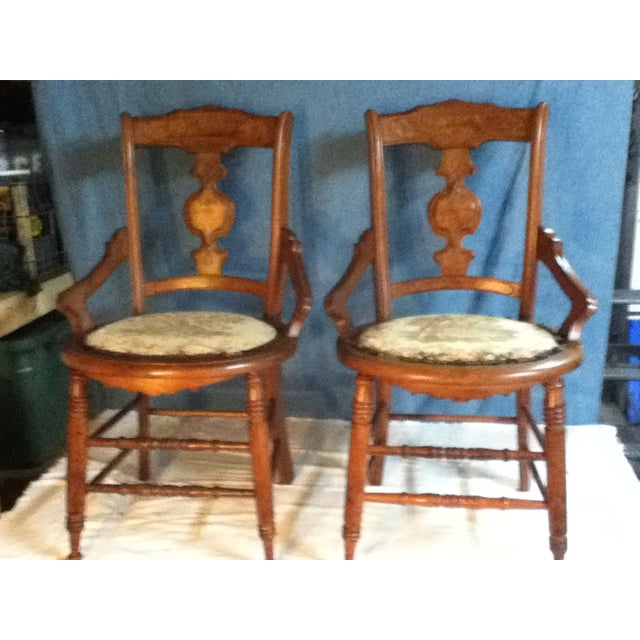 Eastlake Style Wood Accent Chairs - Image 11 of 11