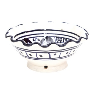 Small Moroccan Hand Painted Navy Bowl