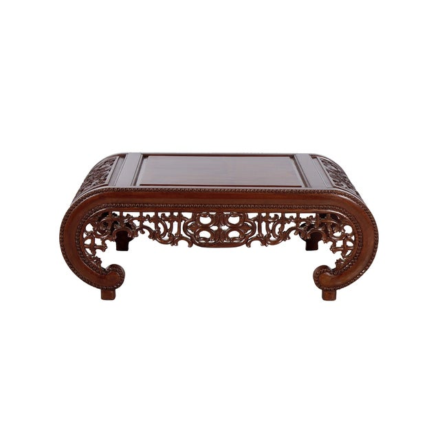 Image of Wooden Carved Chinese Design Coffee Table