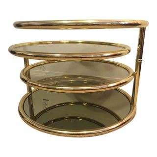 Milo Baughman Style Brass Coffee Table (2 Available)