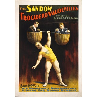 """The Sandow"" Reproduction 1800s Vaudeville Poster Print"