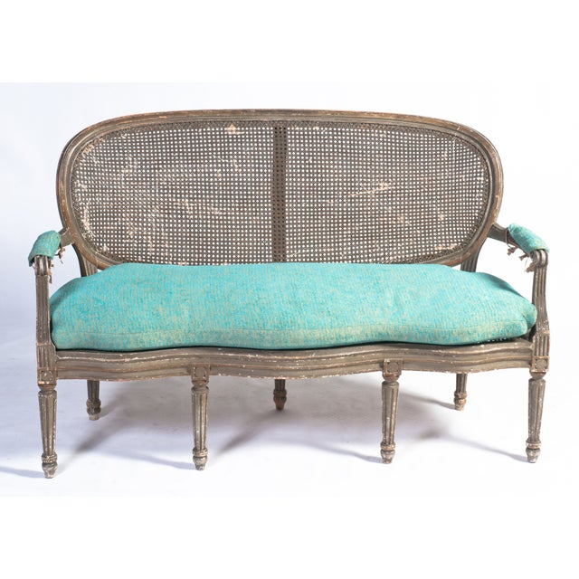 Caned Oval Backed Loveseat From Zerline Paris Chairish