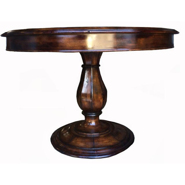 42 distressed hollywood regency round dining table chairish for Distressed round dining table