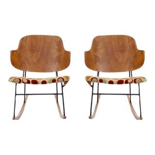 """Pair of Kofod-Larsen """"Penquin"""" Rocking Chairs"""