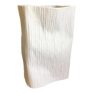 Modern White Bisque Textured Vase
