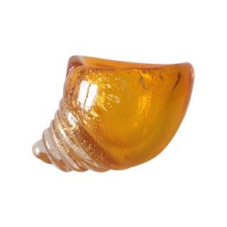 Alfredo Barbini Italian Murano Cognac Shell