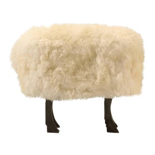 Francois-Xavier Lalanne Inspired Sheep Ottoman in Bronze and Fur